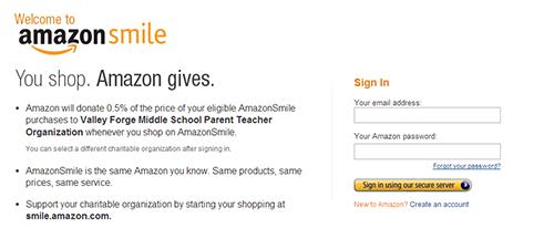 VFMSPTO Amazon Smile Page